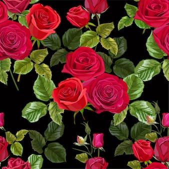 Fleur rose rouge pour les cartes de vœux et les invitations du mariage