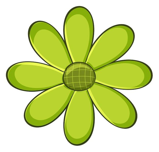 Fleur simple de couleur verte