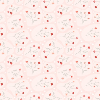 Fleur transparente motif rouge sur rose