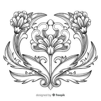 Fleur vintage baroque