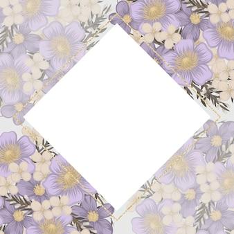 Fleur violette sur fond blanc