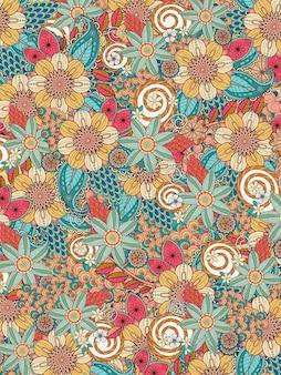 Fleurir la page de coloriage floral en ligne exquise