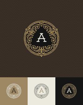 - fleurit le logo monogramme or scintillant.