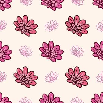 Fleurs abstraites de modèle sans couture coloré