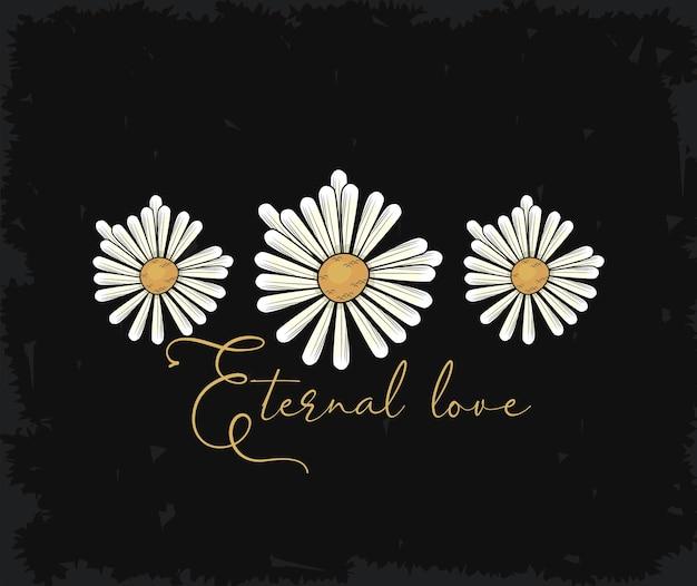 Fleurs et amour éternel