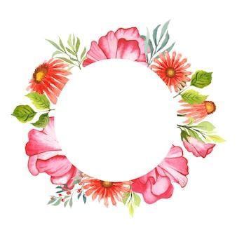 Fleurs aquarelles dessinées à la main