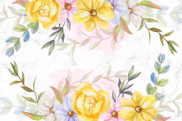 Fleurs aquarelles de fond aux couleurs pastel