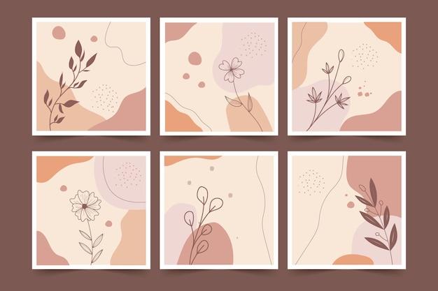 Fleurs d'art minimaliste avec fond abstrait