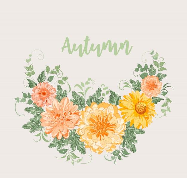 Fleurs d'automne jaunes.