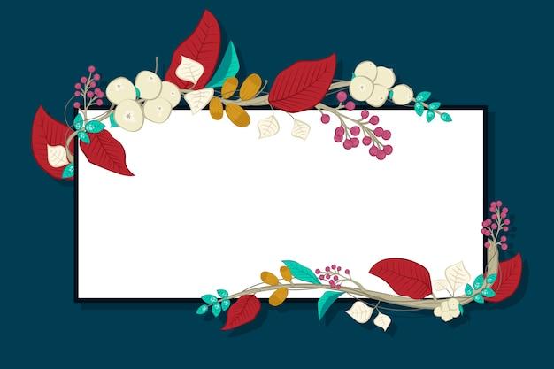 Fleurs avec bannière vide