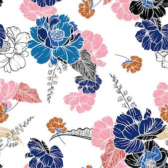 Fleurs botaniques douces