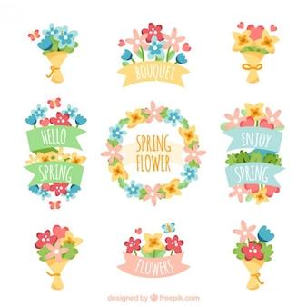 Fleurs et bouquets décoratifs pack