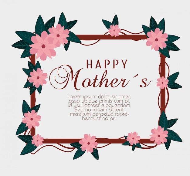 Fleurs avec branches laisse à la fête des mères