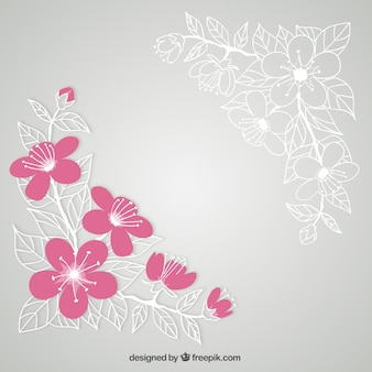 Fleurs de cerisier illustration
