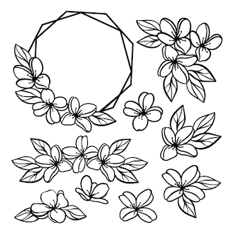 Fleurs collection monochrome