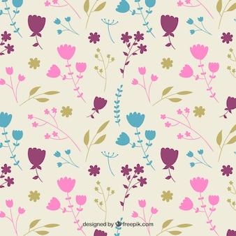 Fleurs colorées motif