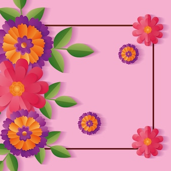 Fleurs de la décoration vue de dessus