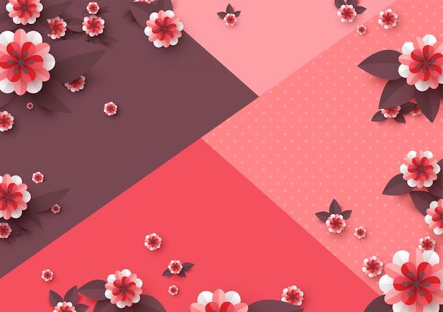 Fleurs décoratives en papier découpé.
