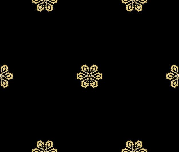 Fleurs dorées sur fond noir design minimaliste