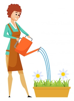 Fleurs d'eau, fleur en pot de fleurs, passe-temps