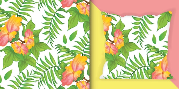 Fleurs d'été fleurissent illustration de modèle d'impression colorée.