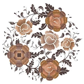 Fleurs les fleurs vintage créent du style dans un style unique
