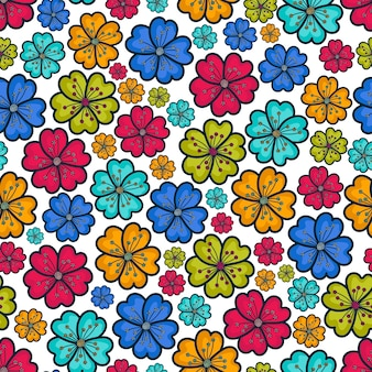 Fleurs de fond colorées
