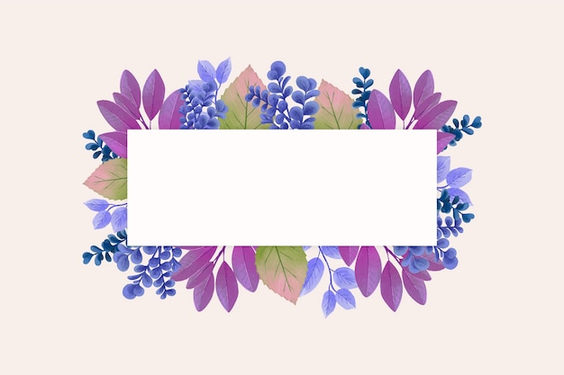Fleurs d'hiver avec bannière d'espace de copie