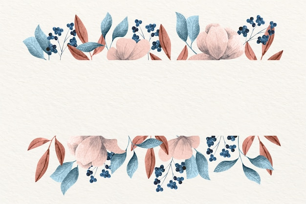 Fleurs d'hiver avec bannière vide