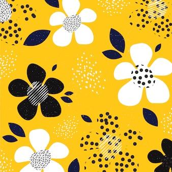 Fleurs imprimées