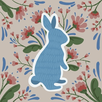 Fleurs de lapin de pâques