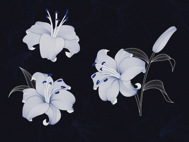 Fleurs de lys de luxe