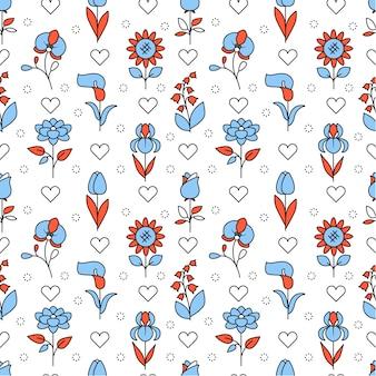 Fleurs de mariage populaires icônes carré