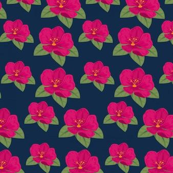Fleurs mignonnes avec fond de pétales et de feuilles de fleurs
