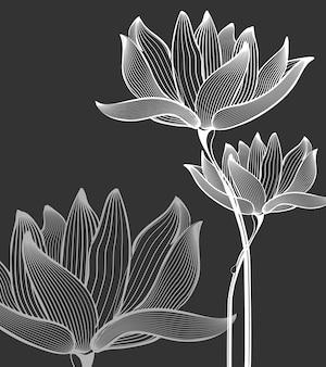 Fleurs monochromes
