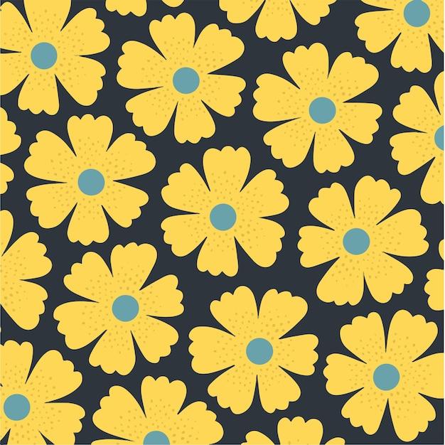 Fleurs motif fond floral vector illustration