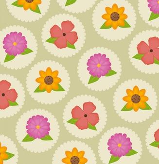 Fleurs et motifs floraux.