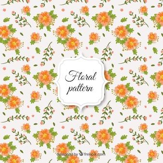 Fleurs d'oranger et de feuilles motif
