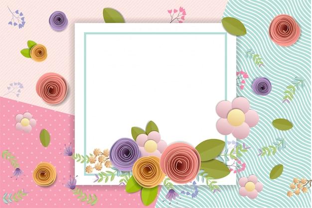 Fleurs en papier craft, bouquet floral festif printemps, automne, mariage et saint-valentin