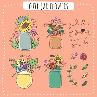 Fleurs de pot mignon