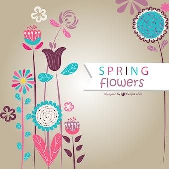 Fleurs de printemps vecteur art