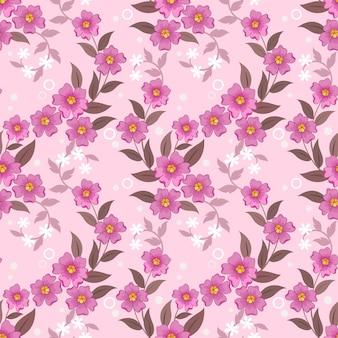 Fleurs roses douces sur fond de couleur rose