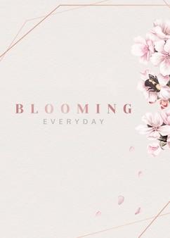 Fleurs roses en fleurs