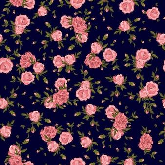 Fleurs roses de modèle sans couture