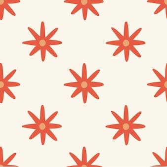 Fleurs rouges tropicales motif fond médias sociaux post floral vector illustration