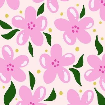 Fleurs sakura motif de fond floral vector illustration