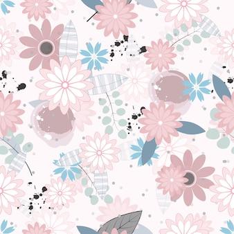 Fleurs sans couture abstraite de fond