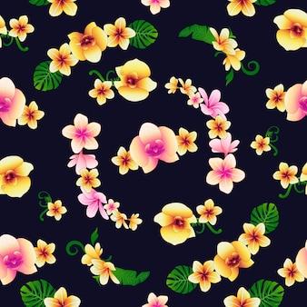 Fleurs tropicales fond floral. seamless pattern de fleurs.