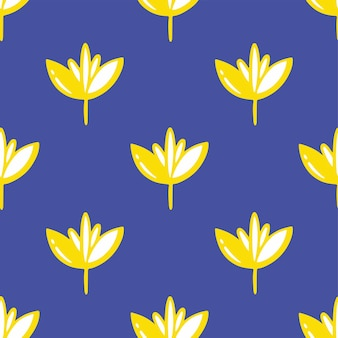 Fleurs tropicales motif fond médias sociaux post floral vector illustration