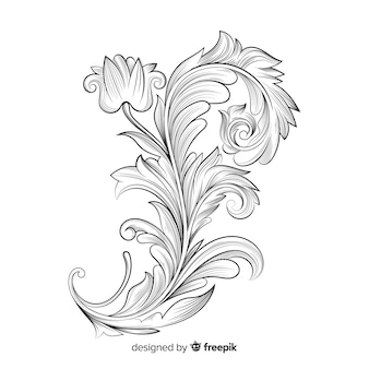 Fleurs vintage baroques